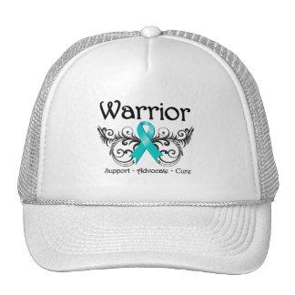 Voluta del guerrero del cáncer ovárico gorras de camionero