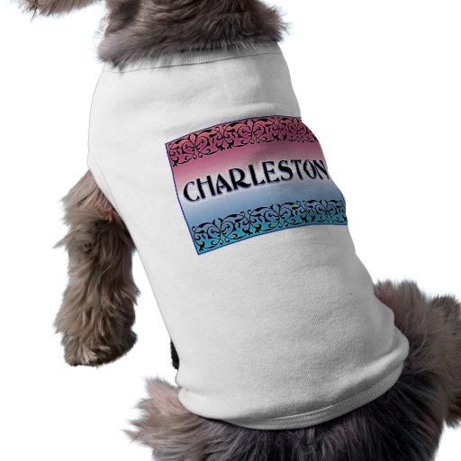 Voluta del hierro de Charleston Camisas De Mascota