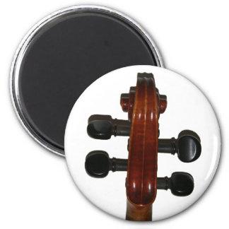 Voluta del violín imán redondo 5 cm