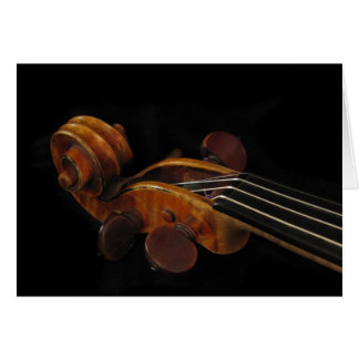Voluta del violín tarjetas