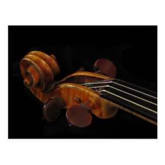 Voluta del violín tarjetas postales
