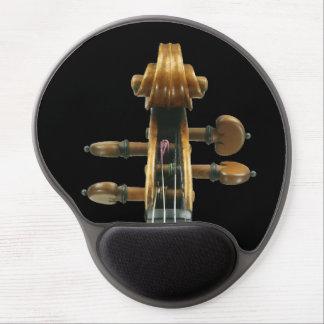 Voluta del violín y opinión detallada de las alfombrillas con gel