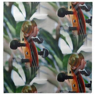 Voluta elegante del violín servilleta