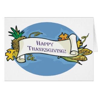 Voluta feliz de la acción de gracias tarjeta de felicitación