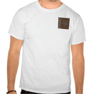 Voluta floral del bígaro del chocolate camisetas