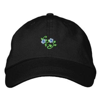 Voluta floral gorras bordadas