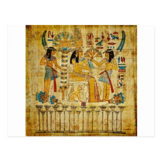 Voluta Heirogliphics de la tapicería de Egipto Postal