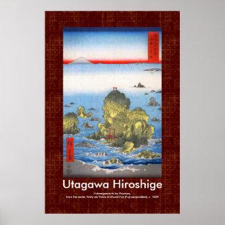Voluta Hiroshige Futamigaura en la provincia de Póster