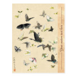 Voluta japonesa fresca de la mariposa del ukiyo-e  tarjeta postal