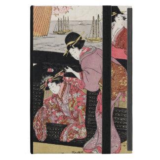 Voluta japonesa fresca de la señora del geisha del iPad mini coberturas