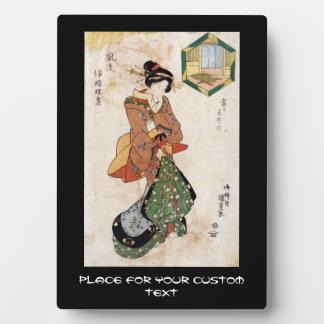 Voluta japonesa fresca de la señora del geisha del placas de plastico