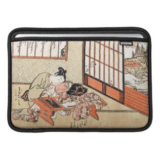 Voluta japonesa fresca del geisha del ukiyo-e del fundas macbook air