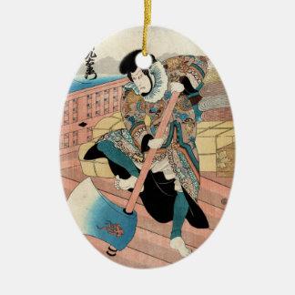 Voluta japonesa fresca del guerrero del ukiyo-e adornos