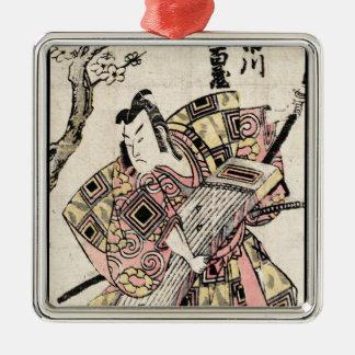Voluta japonesa fresca del ukiyo-e del samurai del adorno