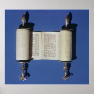 Voluta miniatura de Torah, 1765 Poster