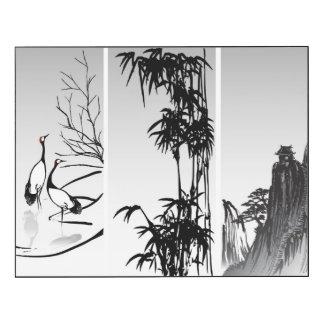 Voluta oriental vertical impresión en madera