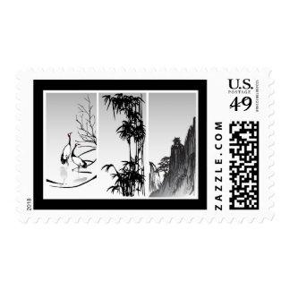 Voluta oriental vertical sellos postales