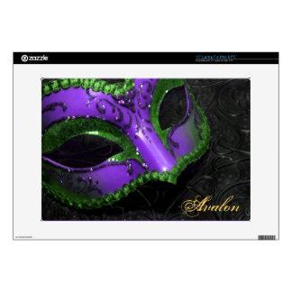 """Voluta púrpura 15"""" de la mascarada piel del ordena 38,1cm portátil calcomanía"""