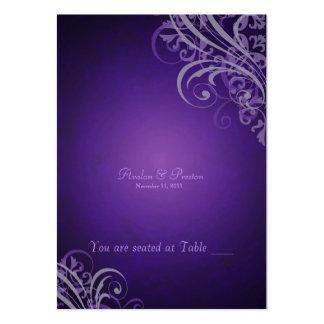 Voluta púrpura barroca exquisita Placecard Tarjetas Personales