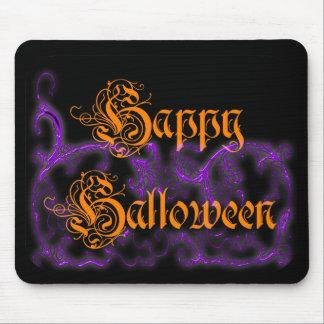 Voluta púrpura fantasmal del feliz Halloween Mousepad