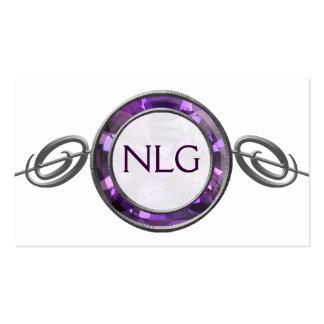 Voluta púrpura, violeta de la gema tarjetas de visita