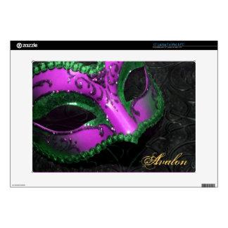 """Voluta rosada 15"""" de la mascarada piel del ordenad skins para portátiles"""