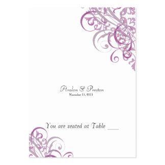 Voluta rosada y blanca barroca exquisita Placecard Tarjeta Personal