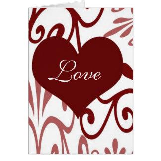 Voluta Tarjeta del día de San Valentín-Inglesa