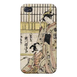 Voluta vieja del vintage del geisha japonés fresco iPhone 4 carcasa