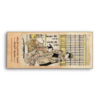 Voluta vieja del vintage del geisha japonés fresco