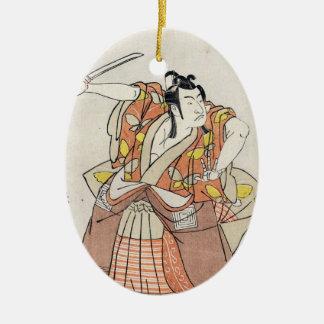 Voluta vieja del vintage del guerrero japonés ornamento para reyes magos