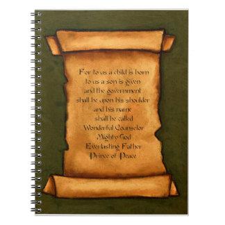 Voluta vieja: Escritura, verso de la biblia: Isaía Spiral Notebooks