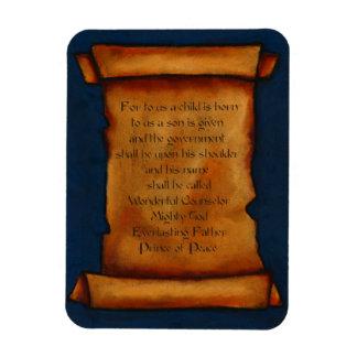 Voluta vieja: Escritura, verso de la biblia: Isaía Rectangle Magnet