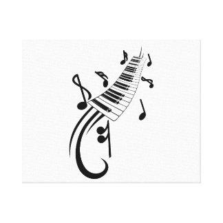 voluta y notas black png del teclado impresiones en lienzo estiradas