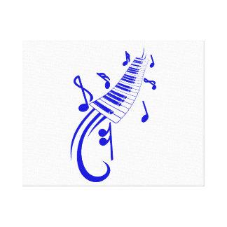 voluta y notas blue png del teclado impresión en lienzo estirada