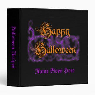 """Volutas de la púrpura del feliz Halloween Carpeta 1 1/2"""""""