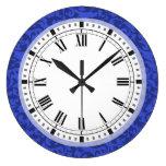 Volutas elegantes del damasco del azul de cobalto reloj
