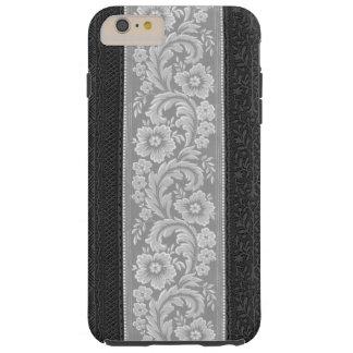 Volutas florentinas de plata elegantes funda de iPhone 6 plus tough