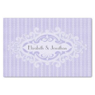 Volutas púrpuras y el casarse de las cintas papel de seda pequeño