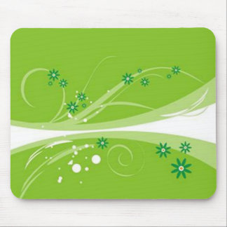 Volutes � flowers on green reason - mouse pad