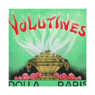 Volutines Perfume LabelParis, France Canvas Print
