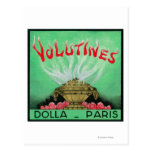 Volutines Perfume LabelParis, France Postcard