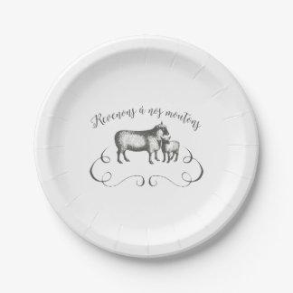 Volvamos a nuestras ovejas - granja divertida del platos de papel