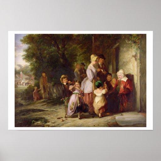 Volviendo de la feria, 1837 (aceite en lona) impresiones