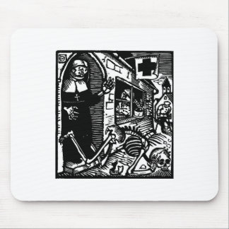 Vom Totentanz Nun and Skeleton mouse pad