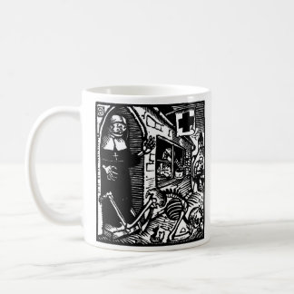 Vom Totentanz Nun and Skeleton mug
