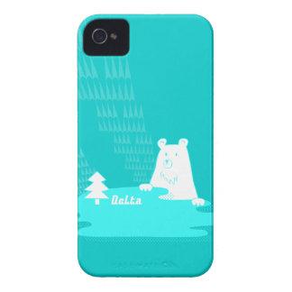 vom Wald de Bär del der del 湖と森の主くまさん Carcasa Para iPhone 4 De Case-Mate