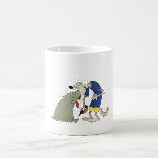 Vomiting dog coffee mug