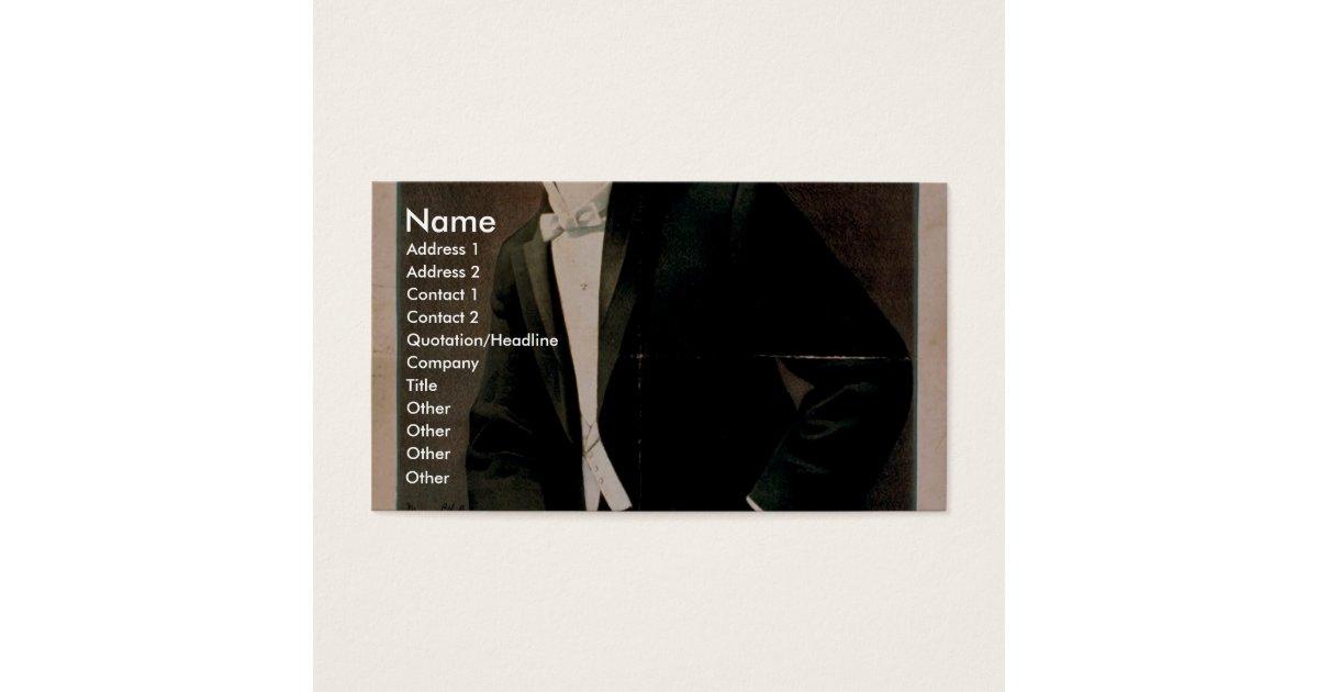 Von Arx, \'Magician Illusionist\' Retro Theater Business Card   Zazzle.com