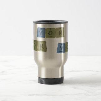 Von as Vanadium Oxygen Nitrogen 15 Oz Stainless Steel Travel Mug